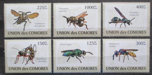 Poštovní známky Komory 2009 Hmyz Mi# 2100-05 Kat 11€