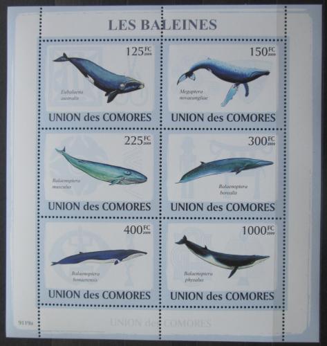 Poštovní známky Komory 2009 Velryby Mi# 2121-26 Kat 11€