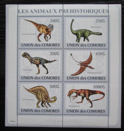 Poštovní známky Komory 2009 Dinosauøi Mi# 2170-75 Kat 14€