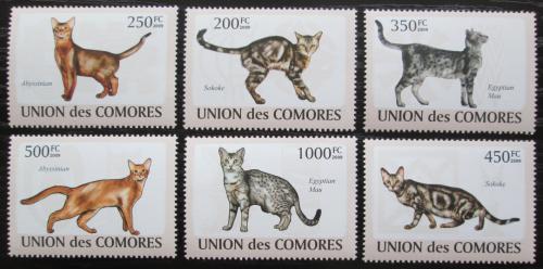 Poštovní známky Komory 2009 Koèky Mi# 2205-10 Kat 14€