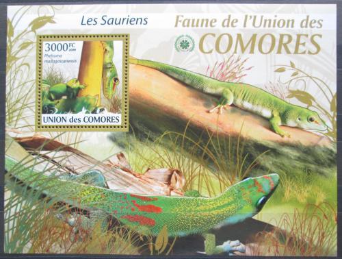 Poštovní známka Komory 2009 Ještìrky Mi# Block 513 Kat 15€