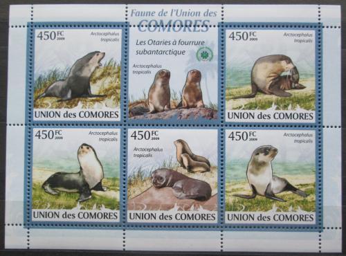 Poštovní známky Komory 2009 Tuleni Mi# 2435-39 Kat 10€