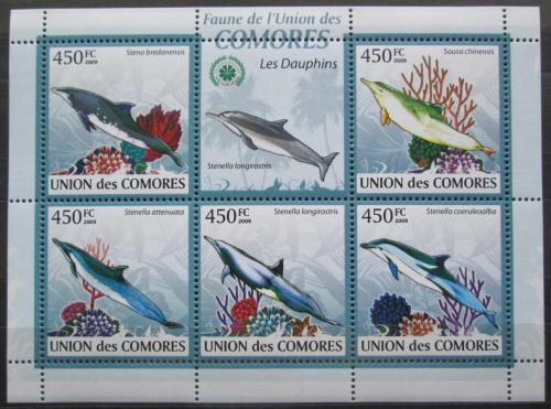 Poštovní známky Komory 2009 Delfíni Mi# 2445-49 Kat 10€