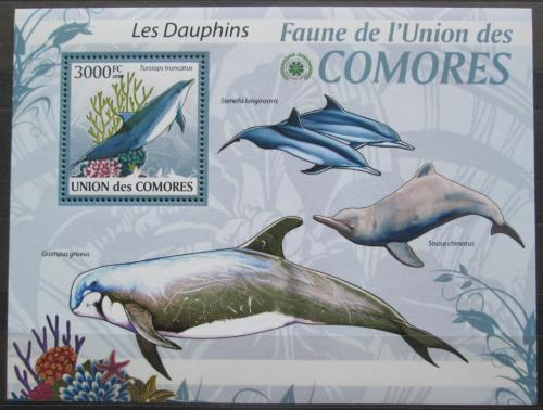 Poštovní známka Komory 2009 Delfíni Mi# 2468 Kat 15€