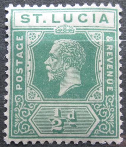 Poštovní známka Svatá Lucie 1921 Král Jiøí V. Mi# 66