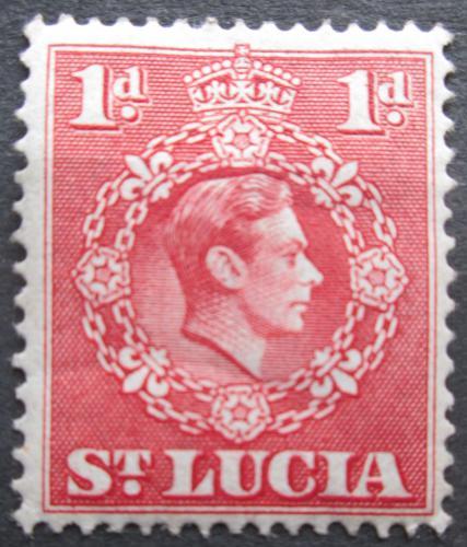 Poštovní známka Svatá Lucie 1948 Král Jiøí VI. Mi# 101