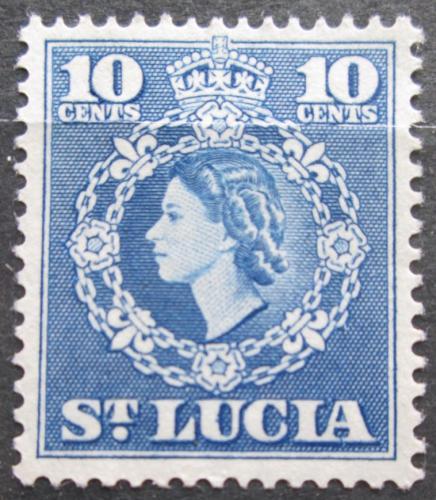 Poštovní známka Svatá Lucie 1954 Královna Alžbìta II. Mi# 153