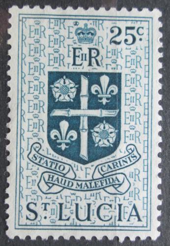 Poštovní známka Svatá Lucie 1954 Znak kolonie Mi# 155