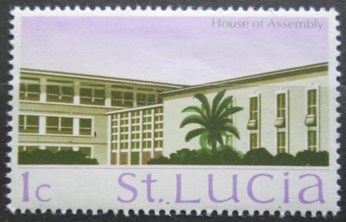 Poštovní známka Svatá Lucie 1970 Architektura Mi# 253 X