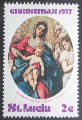 Poštovní známka Svatá Lucie 1977 Vánoce, umìní, El Greco Mi# 422