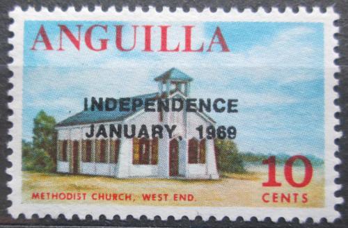 Poštovní známka Anguilla 1969 Kostel pøetisk Mi# 59
