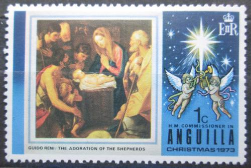 Poštovní známka Anguilla 1973 Vánoce, umìní, Guido Reni Mi# 180