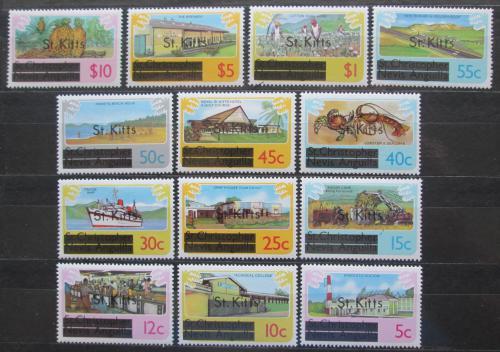 Poštovní známky Svatý Kryštof 1980 Rùzné motivy pøetisk TOP SET Mi# 20-32 X