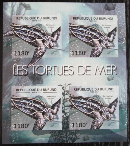 Poštovní známky Burundi 2012 Kožatka velká neperf. Mi# 2788 B Bogen