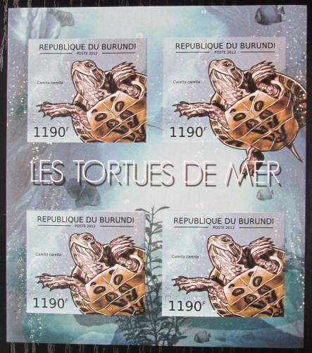 Poštovní známky Burundi 2012 Kareta obecná neperf. Mi# 2789 B Bogen