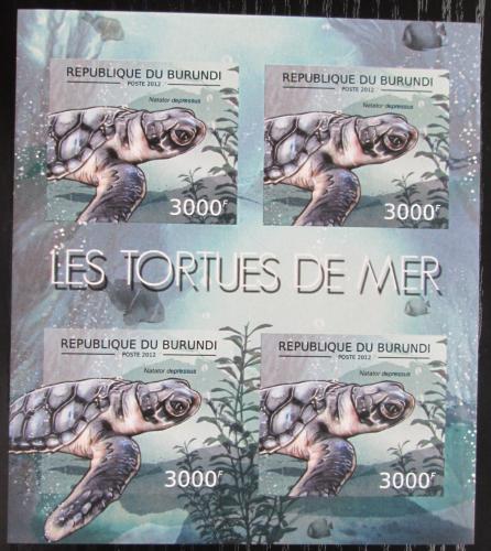 Poštovní známky Burundi 2012 Kareta plochá neperf. Mi# 2790 B Bogen