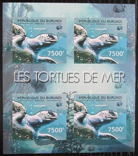 Poštovní známky Burundi 2012 Kareta obecná neperf. Mi# 2792 B Bogen