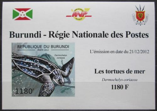 Poštovní známka Burundi 2012 Kožatka velká neperf. DELUXE Mi# 2788 B Block