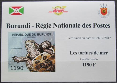 Poštovní známka Burundi 2012 Kareta obecná neperf. DELUXE Mi# 2789 B Block
