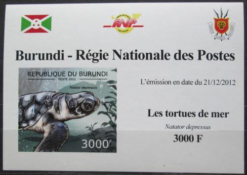 Poštovní známka Burundi 2012 Kareta plochá neperf. DELUXE Mi# 2790 B Block