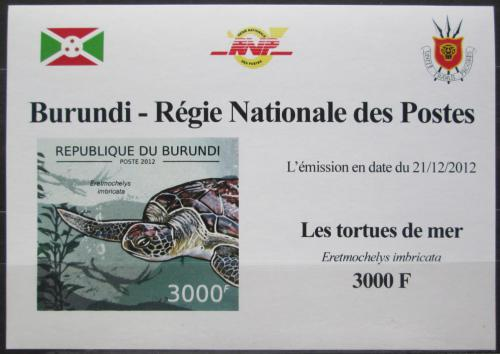 Poštovní známka Burundi 2012 Kareta pravá neperf. DELUXE Mi# 2791 B Block