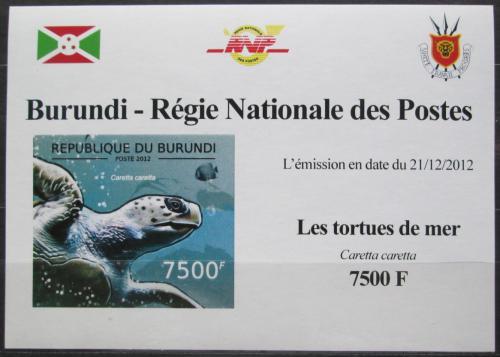 Poštovní známka Burundi 2012 Kareta obecná neperf. DELUXE Mi# 2792 B Block