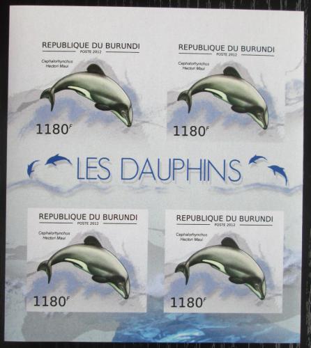 Poštovní známky Burundi 2012 Plískavice novozélandská neperf. Mi# 2843 B Bogen