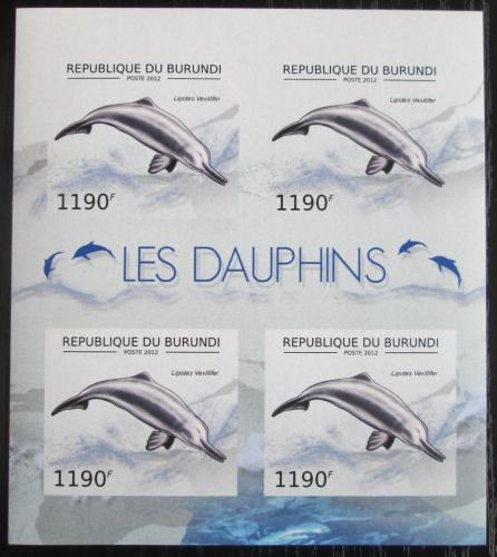 Poštovní známky Burundi 2012 Delfínovec èínský neperf. Mi# 2844 B Bogen