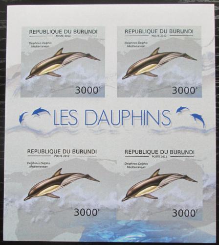 Poštovní známky Burundi 2012 Delfín obecný neperf. Mi# 2845 B Bogen