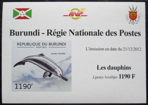 Poštovní známka Burundi 2012 Delfínovec èínský DELUXE Mi# 2844 B Block
