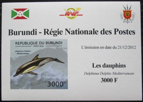 Poštovní známka Burundi 2012 Delfín obecný DELUXE Mi# 2845 B Block