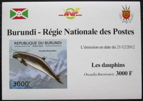 Poštovní známka Burundi 2012 Orcela tuponosá DELUXE Mi# 2846 B Block