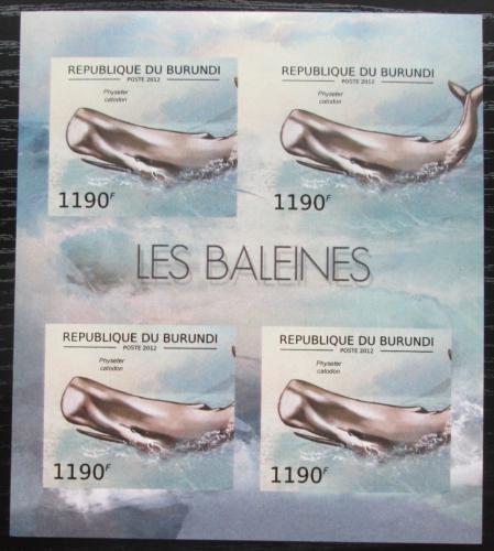 Poštovní známky Burundi 2012 Vorvaò obrovský neperf. Mi# 2839 B Bogen