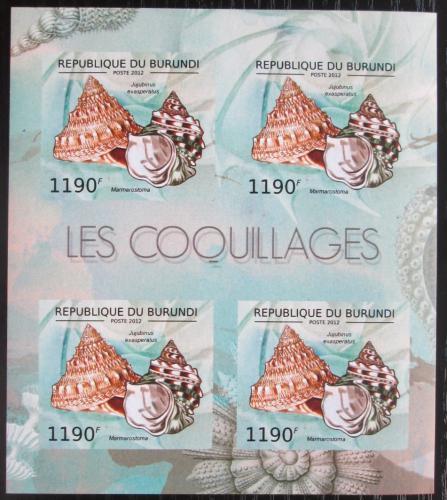 Poštovní známky Burundi 2012 Mušle neperf. Mi# 2754 B Bogen