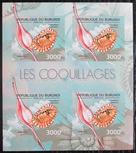 Poštovní známky Burundi 2012 Mušle neperf. Mi# 2755 B Bogen