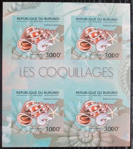 Poštovní známky Burundi 2012 Mušle neperf. Mi# 2756 B Bogen