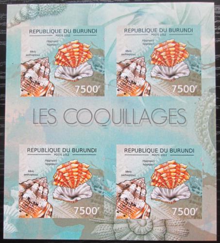 Poštovní známky Burundi 2012 Mušle neperf. Mi# 2757 B Bogen