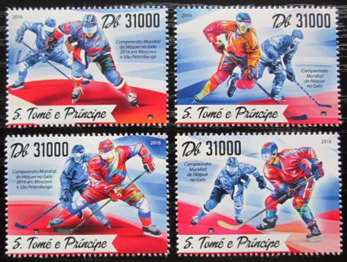 Poštovní známky Svatý Tomáš 2016 MS v ledním hokeji Mi# 6996-99 Kat 12€