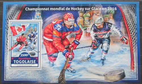Poštovní známka Togo 2016 MS v ledním hokeji Mi# Block 1393 Kat 14€
