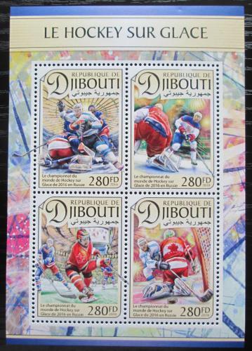 Poštovní známky Džibutsko 2016 MS v ledním hokeji Mi# 1408-11 Kat 11€