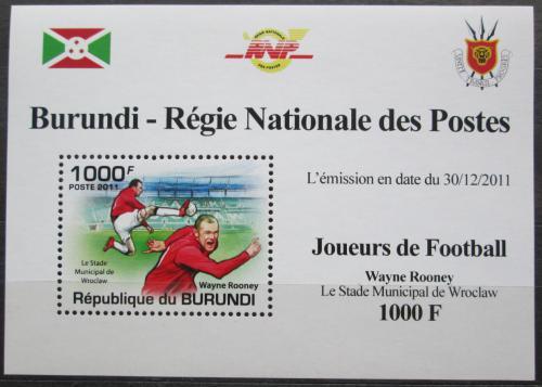 Poštovní známka Burundi 2011 Wayne Rooney, fotbal Mi# 2138 Block