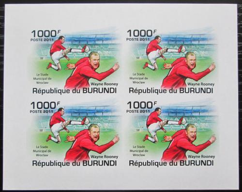 Poštovní známky Burundi 2011 Wayne Rooney neperf. Mi# 2138 B Bogen