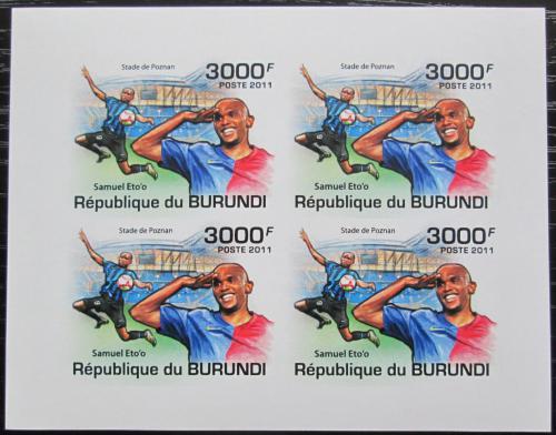 Poštovní známky Burundi 2011 Samuel Eto'o neperf. Mi# 2140 B Bogen
