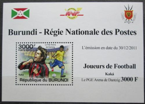 Poštovní známka Burundi 2011 Kaká, fotbal DELUXE Mi# 2144 Block
