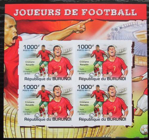 Poštovní známky Burundi 2011 Cristiano Ronaldo neperf. Mi# 2142 B Bogen
