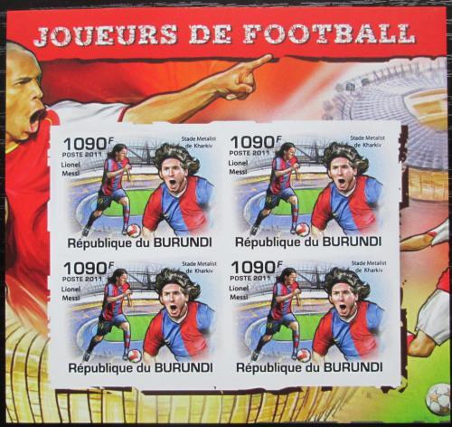 Poštovní známky Burundi 2011 Lionel Messi neperf. Mi# 2143 B Bogen