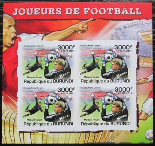 Poštovní známky Burundi 2011 Manuel Neuer neperf. Mi# 2145 B Bogen