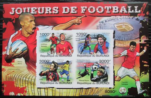 Poštovní známky Burundi 2011 Fotbalisti neperf. Mi# Block 172 B
