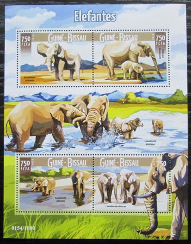 Poštovní známky Guinea-Bissau 2015 Sloni Mi# 8959-62 Kat 11€
