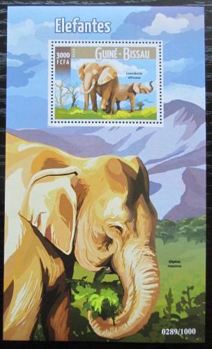 Poštovní známka Guinea-Bissau 2015 Sloni Mi# Block 1432 Kat 11€